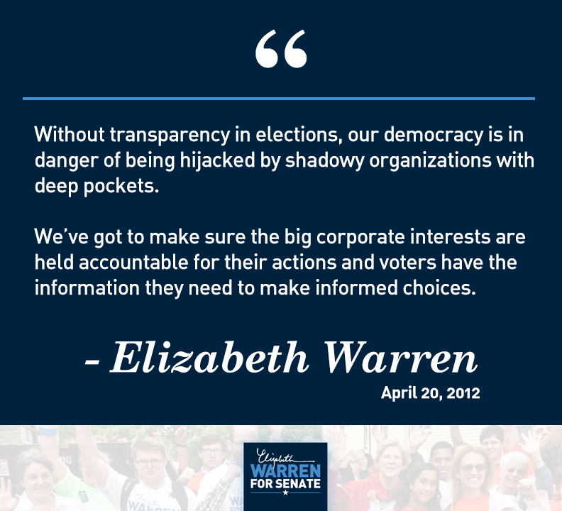 Elizabeth Warren - DISCLOSE Act