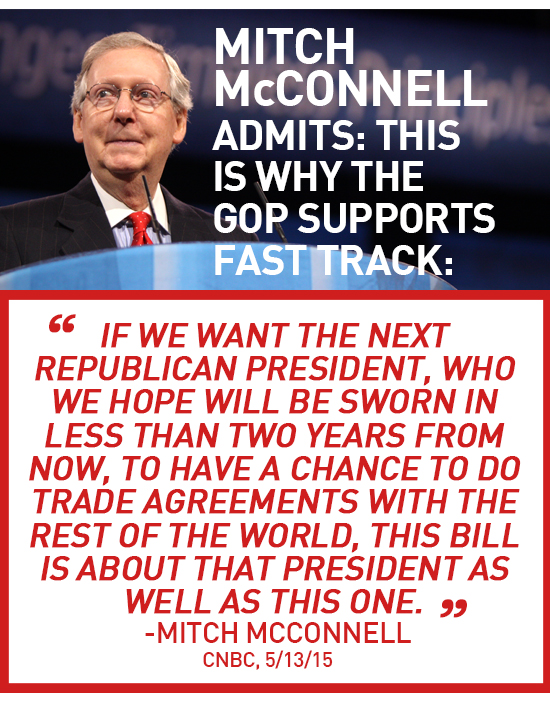 Mitch McConnell admits: This is why the GOP supports Fast Track.